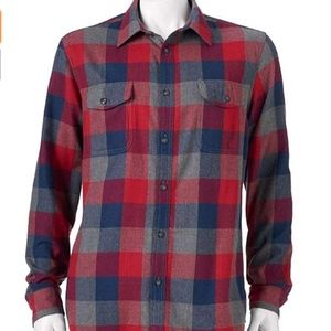 Sonoma Mens Classic Fit Soft Flannel Shirt
